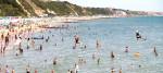 People enjoy the heatwave at Bournemouth beach