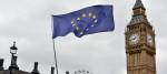 EU flag flying outside Parliament