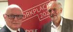 Ronnie Draper pictured with Jeremy Corbyn recently