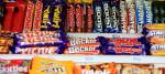 A shop display of chocolate bars