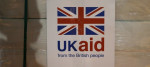 UK aid label attached to supplies