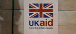 A package of aid sent by the British government