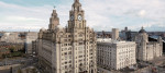 Aerial view of Liverpool town hall