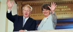 Boris Johnson and Arlene Foster