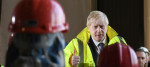 Boris Johnson speaks to workers at Teeside fabrication yard
