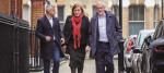 Emma Dent Coad with London Mayor Sadiq Khan and Labour leader Jeremy Corbyn