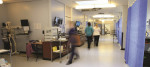 A picture of a hospital corridor