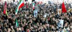 Iranian Revolution supreme leader Ali Khamenei and hundreds of thousands of mourners attend funeral of killed general Qassem Soleimani