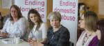 Theresa May meets anti-domestic abuse campaigners.