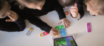 Children at the nursery 'Seepferdchen' learn coding in a playful way
