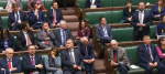 Denis Skinner sits stony-faced as the SNP's Stewart McDonald raises a point of order.