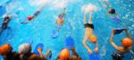 A school swimming lesson