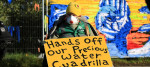 Fracking protesters outside energy firm Cuadrilla's site in Preston New Road