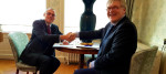 An agreement of understanding signed between Adrian Simper, Strategy Director from the NDA and Pål Mikkelsen Chief Executive Officer, Norwegian Nuclear Decommissioning (NND).