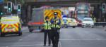 Police cordon off an area around Finsbury Park tube station
