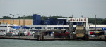 View of part of the ferry port in Calais in Northern France