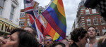 Gay rights vigil in the UK
