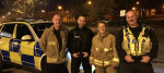 Holly Lynch MP with members of the West Yorkshire Fire and Rescue Service
