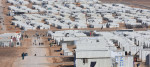 Syrian refugees in a camp