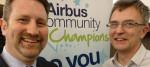 David accepts Airbus award