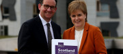 Andrew Wilson and Nicola Sturgeon