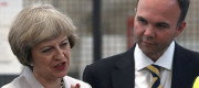 Theresa May and Gavin Barwell