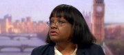 Diane Abbott appearing on the Andrew Marr Show this morning