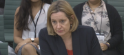 Amber Rudd appearing before the Home Affairs select committee today