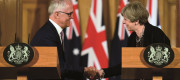 Theresa May with Australian PM Malcolm Turnbull