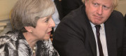 Boris Johnson and Theresa May during a Cabinet meeting