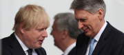 Boris Johnson and Philip Hammond in London