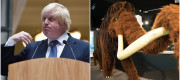 Boris Johnson and wooly mammoth
