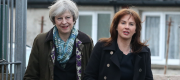 Theresa May and Trudy Harrison in Copeland