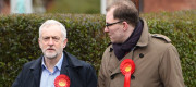 Gareth Snell campaigns with Jeremy Corbyn