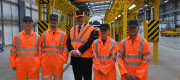 Chris Grayling meets with Alstom apprentices