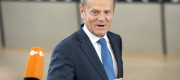 Donald Tusk , the president of the European Council talks to the press prior to the European Summit