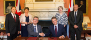 The Conservatives and DUP sign a confidence and supply deal inside No 10
