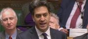 Ed Miliband asking Theresa May a question at PMQs