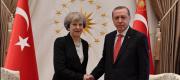 Theresa May and Recep Erdogan