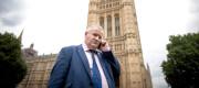 Ian Blackford outside Parliament