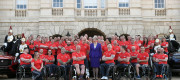 Theresa May attends the launch of the UK team for the Invictus Games Sydney 2018 at Horse Guards Parade in London