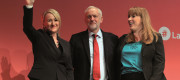 Rebecca Long-Bailey, Jeremy Corbyn and Angela Rayner