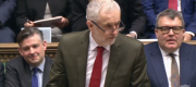 Jeremy Corbyn at PMQs this lunchtime