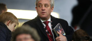 Speaker of the House of Commons John Bercow in the stands during a Premier League match