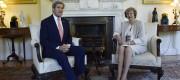 John Kerry and Theresa May