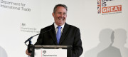 Liam Fox delivers a speech on free trade