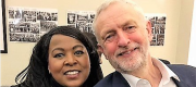 Mandy Richards and Jeremy Corbyn