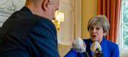 Theresa May talking to LBC radio