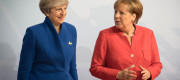 Theresa May and German Chancellor Angela Merkel at the G20 summit in Hamburg earlier this year