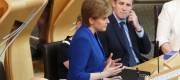 Nicola Sturgeon speaking in the Scottish Parliament